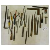 Files, chisel, squares and misc. tools