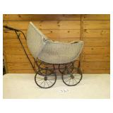 Vintage Doll wicker buggy