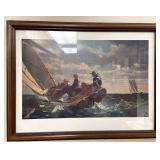 Winslow Homer breezing up print