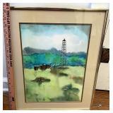 Farm scenery painting