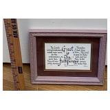 Framed Prayer print