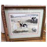 Girl with Cow framed photo