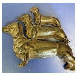 Cast-iron dog figurine