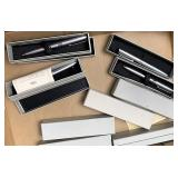 Box lot of cross pens