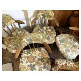 Four floral chairs