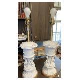 Marbro cherub lamps