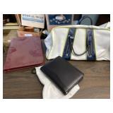 Vintage bag and agendas