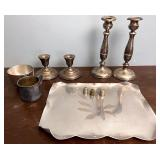 Sterling weighted candleholders and more
