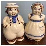 Sonny pottery Dutch boy and girl salt and pepper