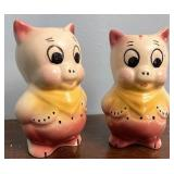 Shawnee Pottery pig shakers