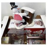 Snowman on piano and more