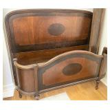 Art deco full size bed with headboard and foot
