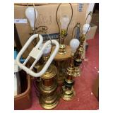 Large lot of lamps