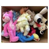 Large stuffed animal and the lot 2 boxes