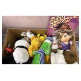 Miss piggy and other stuffed animals