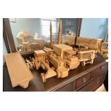 Wooden toy lot