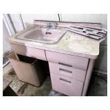 Vintage vanity and sink metal