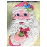 48 inch plastic Santa decoration minor cracking