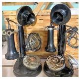Replica candlestick telephones