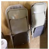 Six folding chairs