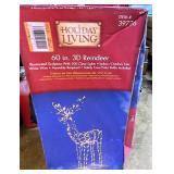 3-D reindeer still in box