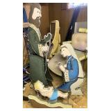 Metal nativity set Joseph is 60 inches tall