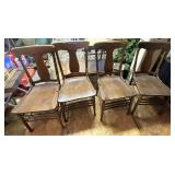 Five harp back chairs
