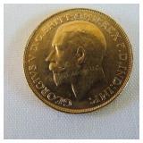 GEORGIVS V D.G. BRITT:OMN:REX F.D.IND:IMP: GOLD