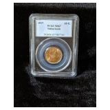 1917 PCGS MS67 NETHERLANDS 10 GOLD COIN