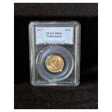 1917 PCGS MS66 NETHERLANDS 10 GOLD COIN