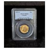 1911-C PCGS MS64 CANADA GOLD COIN Sov