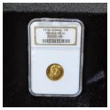 1873A GERMANY PRUSSIA MS66 GOLD COIN 10M