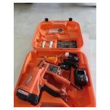 Paslode battery powered nail gun.