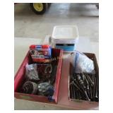 Lag bolts, galvanized roofing nails 2 inch,