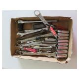 Miscellaneous wrenches, sockets set, and
