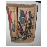 Crescent wrench, Sledgehammer, tin Snips, pliers,