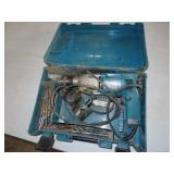 Makita hammer drill with hole saw bits and