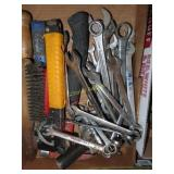 Metric wrenches, staple gun, Allen wrenches, and