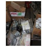 PVC pipe fittings, nails, and miscellaneous metal