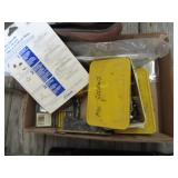 Miscellaneous screws, tire patch fixer, valve,