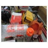 Large assortment of bolts, bubble wrap, and