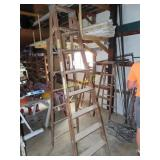 8-foot wooden step ladder