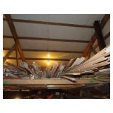 Large assortment of trim, gutter, and pipe