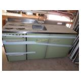 All in one vintage sink, stove top, oven, fridge,