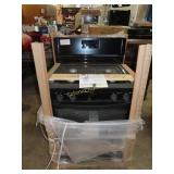 Whirlpool Black gas stove, new in box