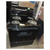 GE black electric stove