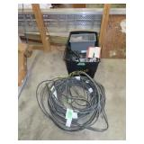 Wire, caulking, screws, tote, etc.