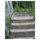 """Fiberglass stairs w/rail 32"""" tall"""