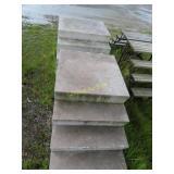 2 fiberglass stairs
