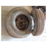 Rims and tires 6 hole off 1958 or 59 Ford